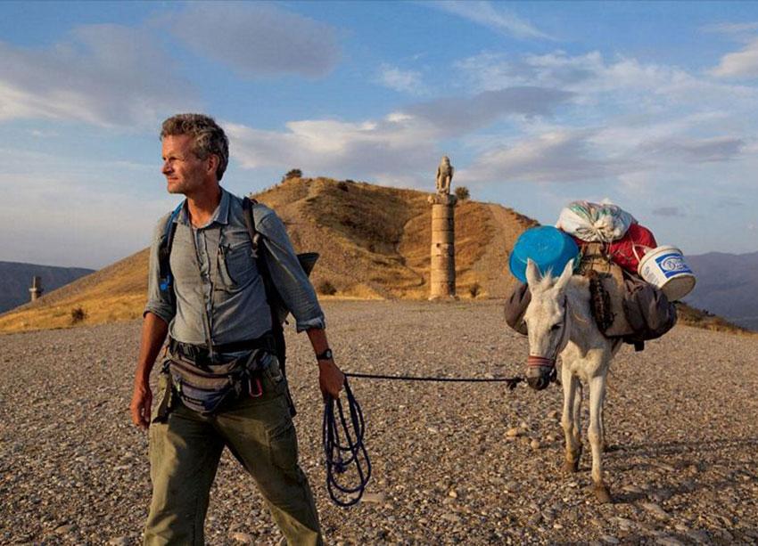 Paul Salopek leads his mule in eastern Turkey.