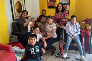 Mexican families with epileptic children at FMCAM in Guadalajara.