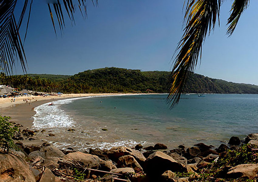 Chacala's beach and bay.