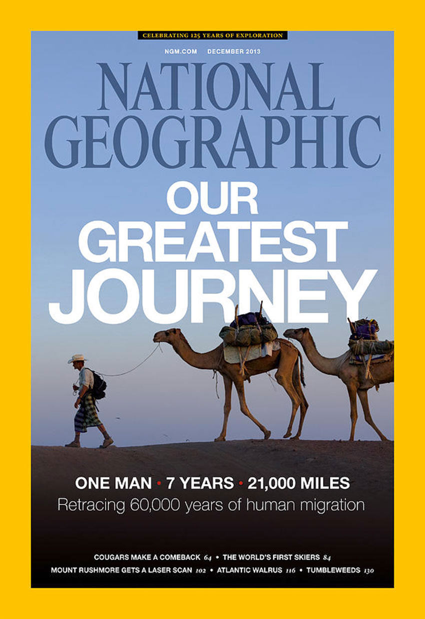 National Geographic cover, December 2013. Seven years were not enough.
