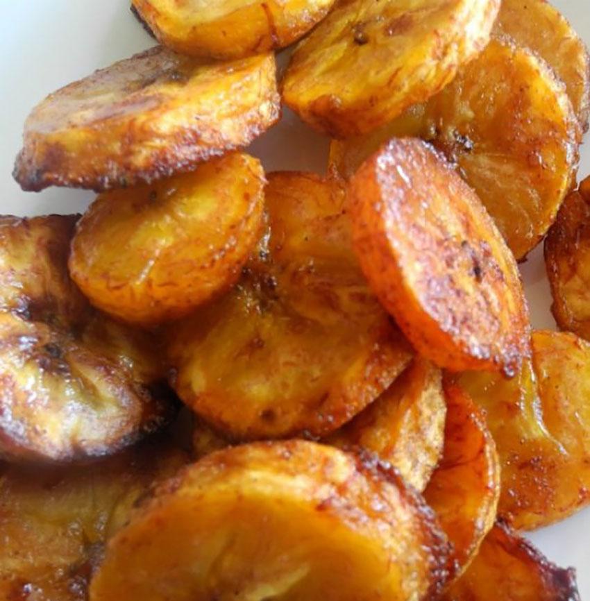 Plantain chips: pumpkin flavor tropical style.