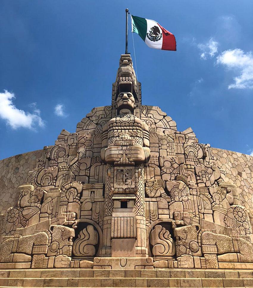 Mérida plants it's flag in Mayan history.