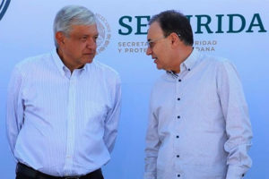 López Obrador and Durazo in Guanajuato on Sunday.