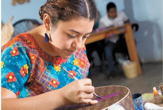 An artisan at Casa Don Juan.
