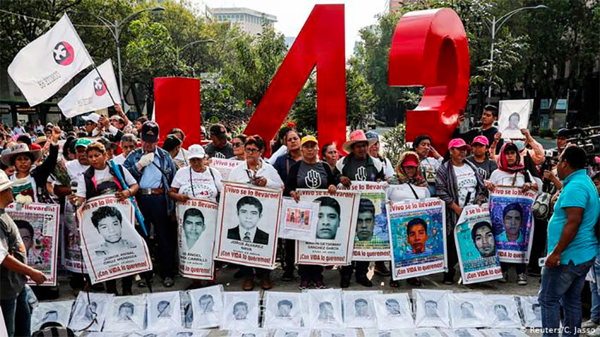 A march for justice for Ayotzinapa, one of hundreds that have been held since 2014.