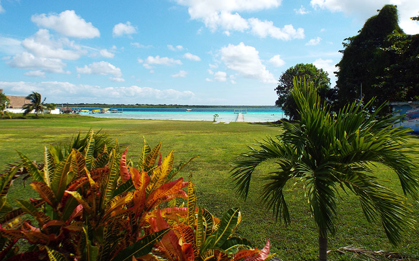 A local waterside park in Bacalar.
