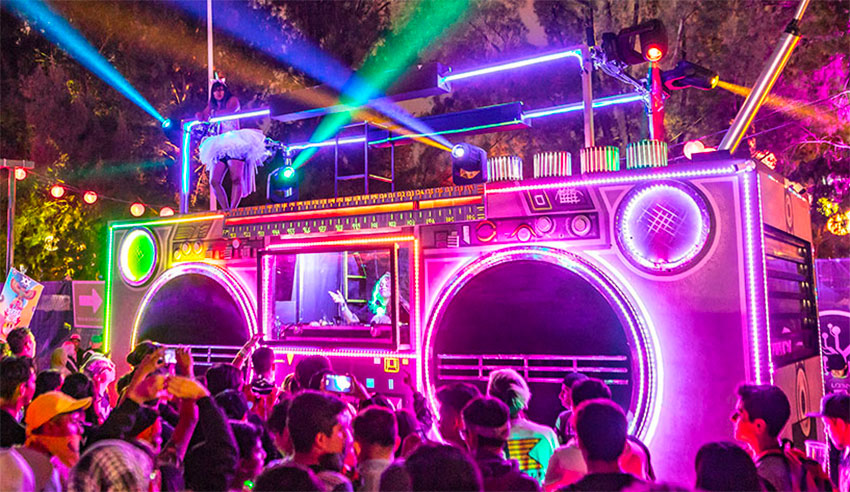 The festival combines music, art and technology.