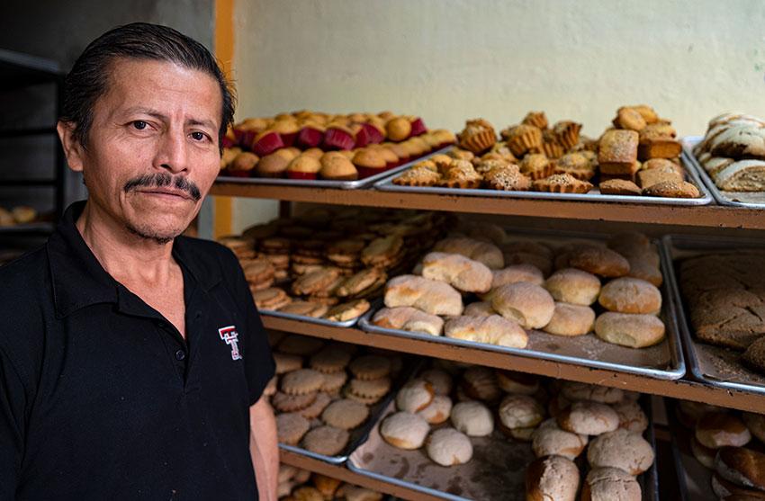Francisco Flores, baker.