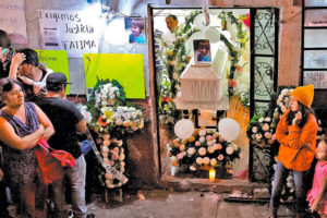 The vigil for femicide victim, 7-year-old Fátima.