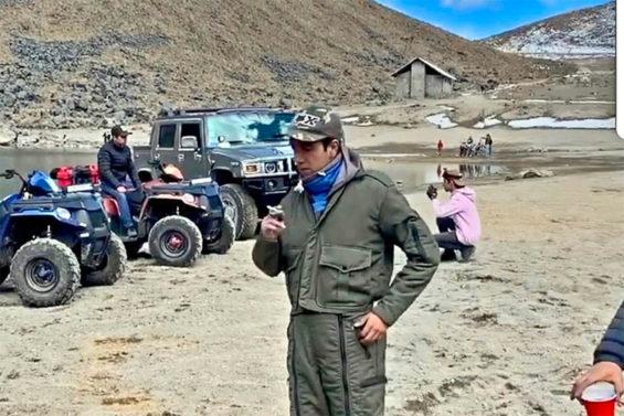 Ex-government official Daniel Mendoza in a restricted area of Nevado de Toluca.