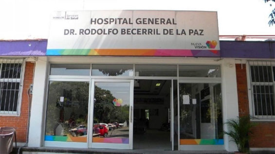 The Morelos hospital where a kidnapping suspect was freed.