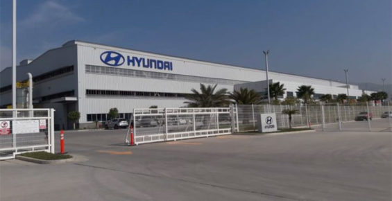 The Hyundai plant in Tijuana.