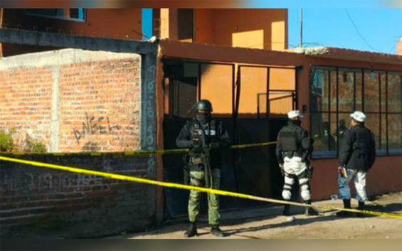The crime scene Saturday in Irapuato.
