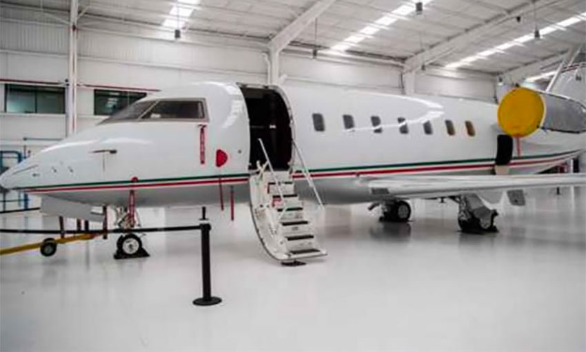 Jesús Murillo's private jet.