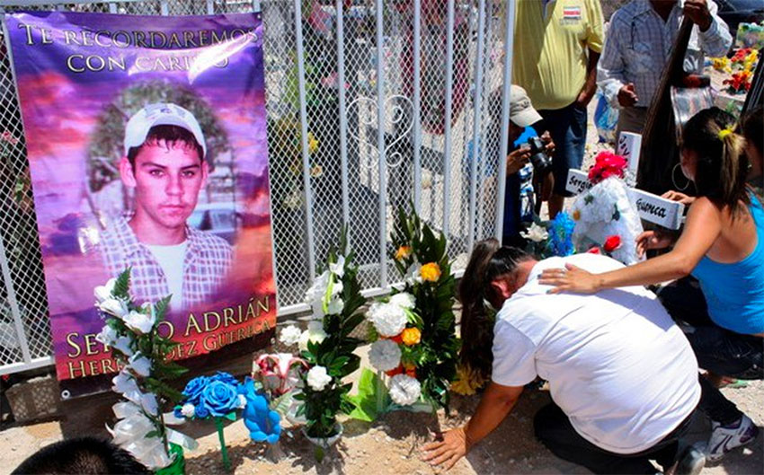 A memorial to the Mexican teen shot and killed by a US border patrol agent.