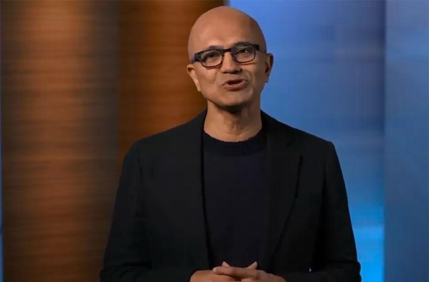 Microsoft CEO Nadella.