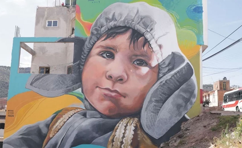 One of the murals in Zacatecas.