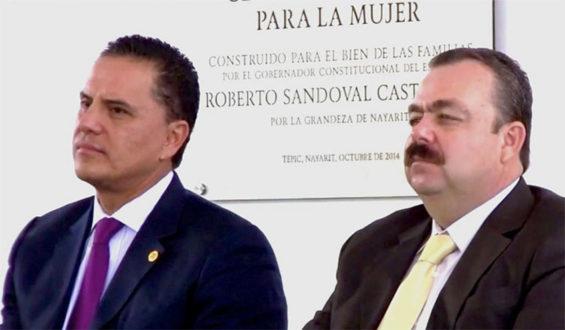 Former Nayarit officials Sandoval, left and Veytia.