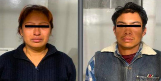 The couple were arrested in México state Wednesday night.