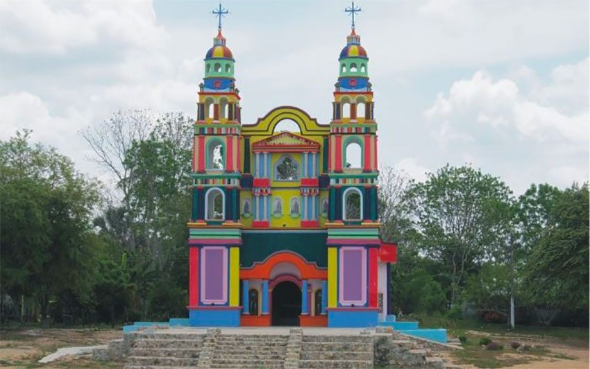 "El Señor de Tila church in Balancan, Tabasco, which will be the first state to offer the ""Eight Days"" tour packages."