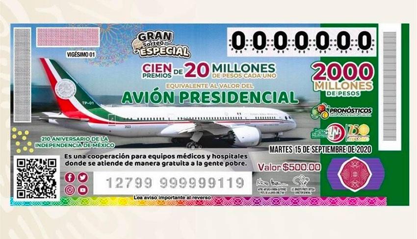 plane raffle ticket