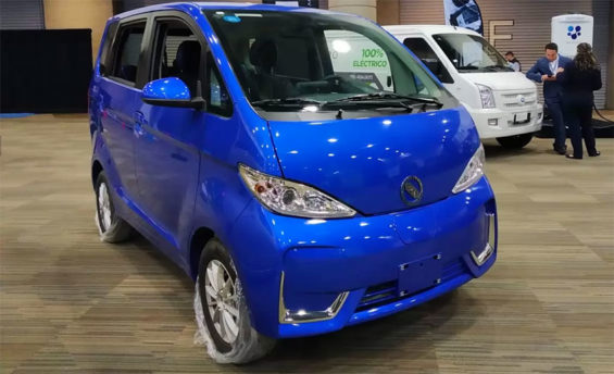 The hybrid-electric van, made in Mexico.