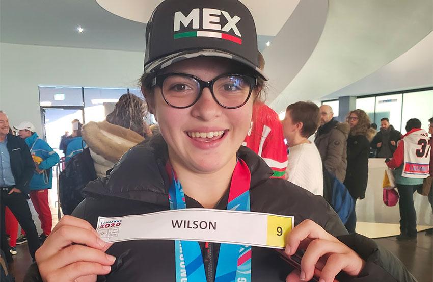Gold medalist Luisa Wilson.