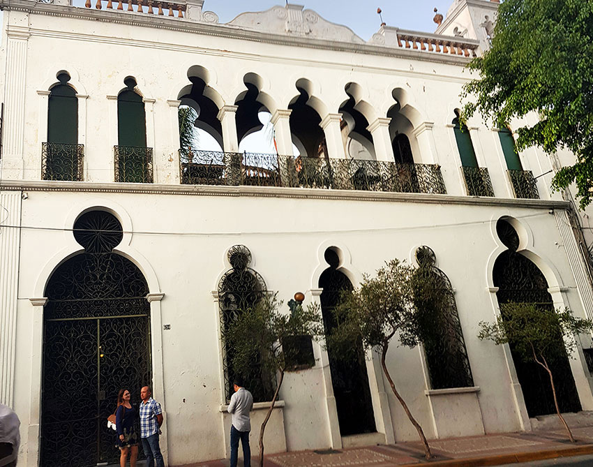 The entrance to the Palacio de las Vacas in the historic district of Guadalajara.