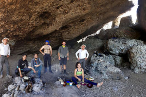 Inside La Casa de Piedra shelter cave.