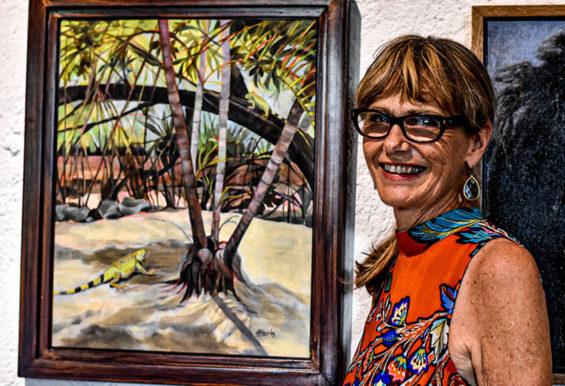 Art show organizer Peg Harris.