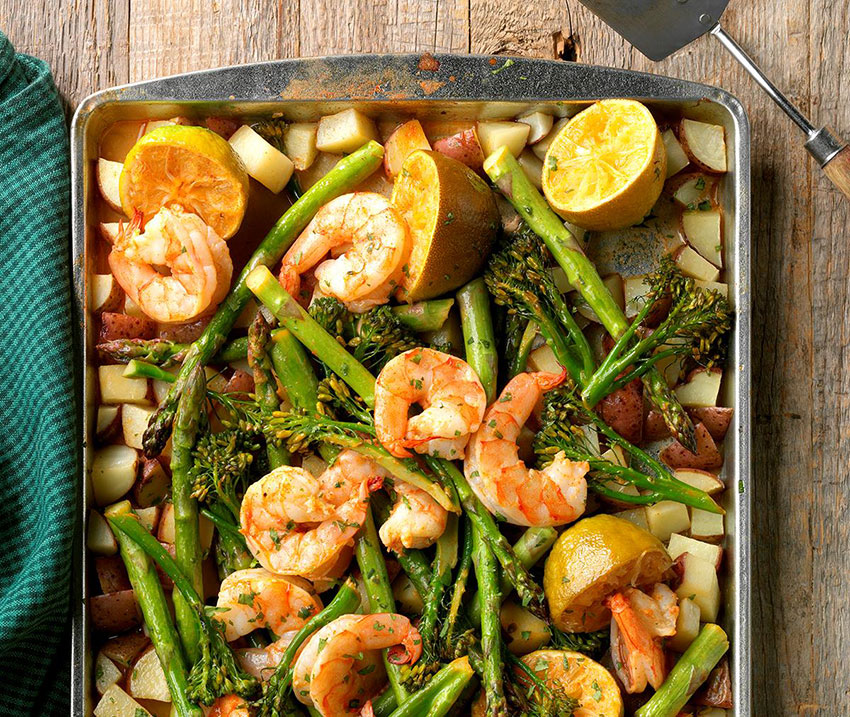 Chipotle-Lime Shrimp: minimal prep and cleanup.