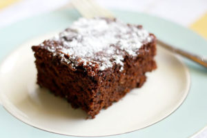 This chocolate cake is a family favorite.
