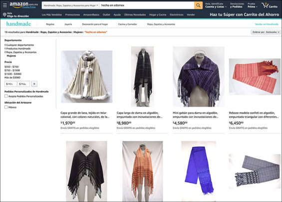 State of México artisanal products now available on Amazon.