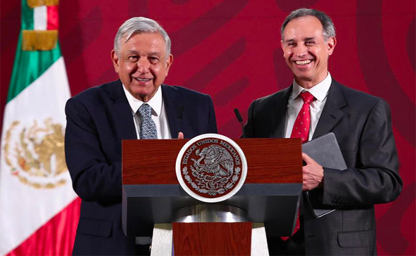 AMLO not a 'force of contagion,' says deputy minister, right.