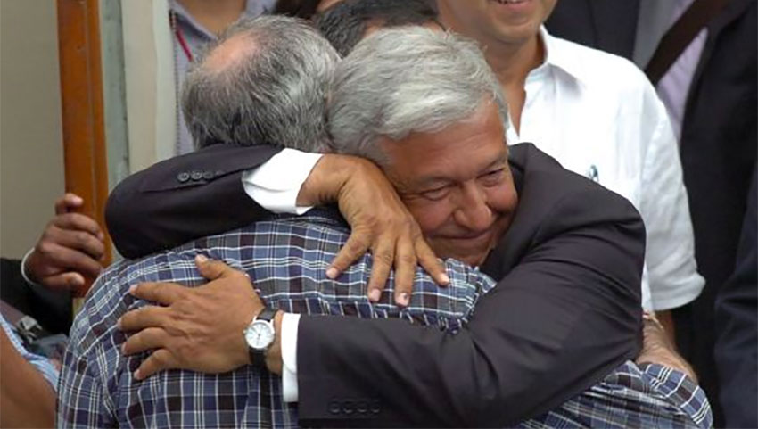 AMLO, the hugger in chief.