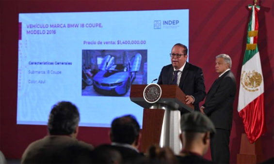 The auction results were announced at the president's press conference Monday.