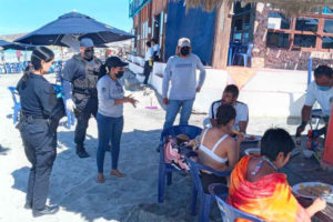 Officials advise beachgoers in Baja California Sur that beaches are off limits.