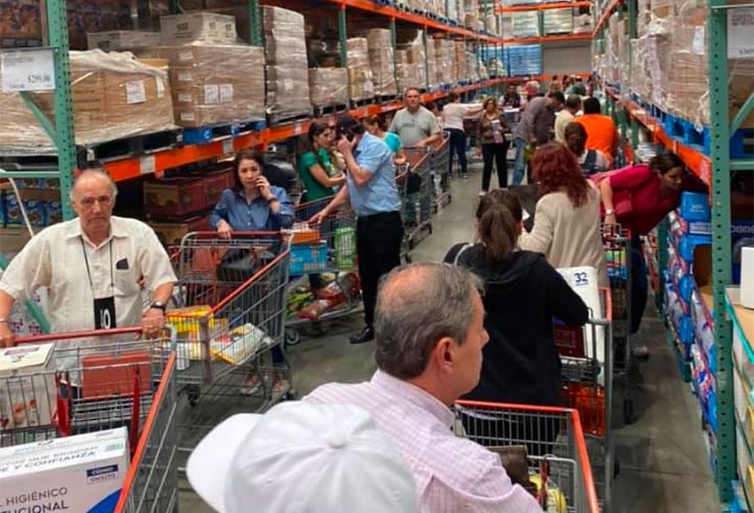 Coronavirus worries have triggered panic buying in cities near the northern border.