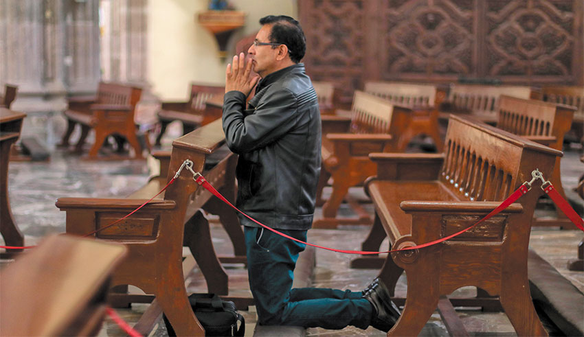 Churches have been urged to cancel Mass.