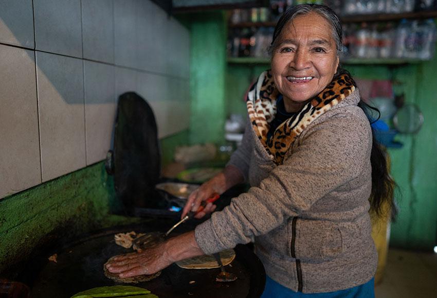 Sophia in her kitchen in Morelos.