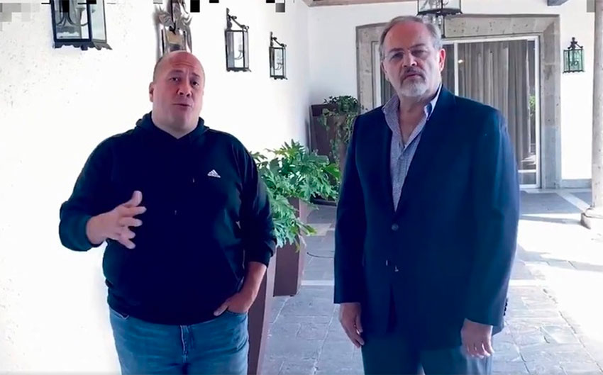 Governor Alfaro and Health Minister Petersen in a video released Wednesday.