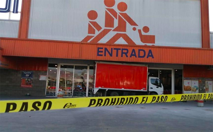 Looters struck at this Oaxaca store on Wednesday.