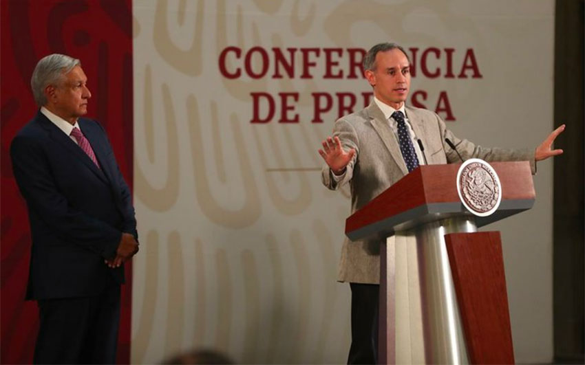 López-Gatell at the president's morning press conference.