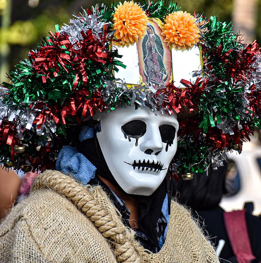 A participant in the Mezcal Festival parade.