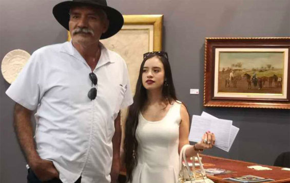 Mireles and his wife at an art exhibition in Mexico City last month.