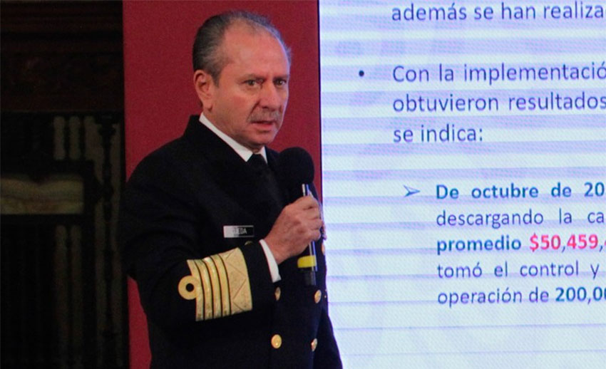 Navy chief Ojeda presents findings of investigation at Tuesday's press conference.