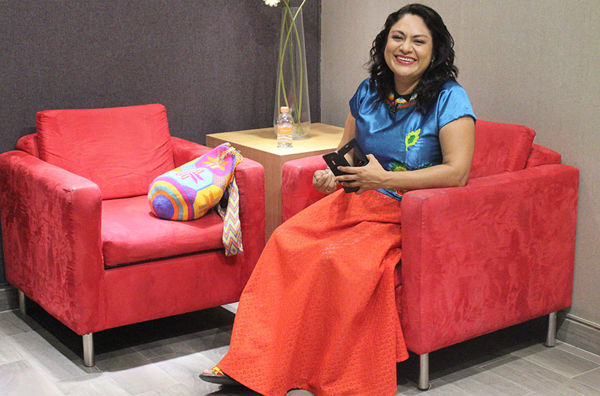 Zapotec poet Irma Pineda.