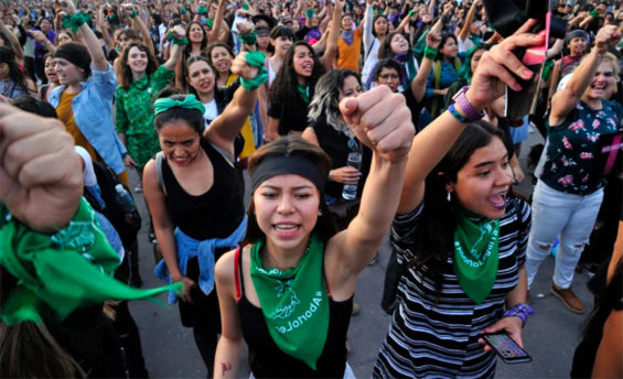 One of the many protests against violence in Mexico City.