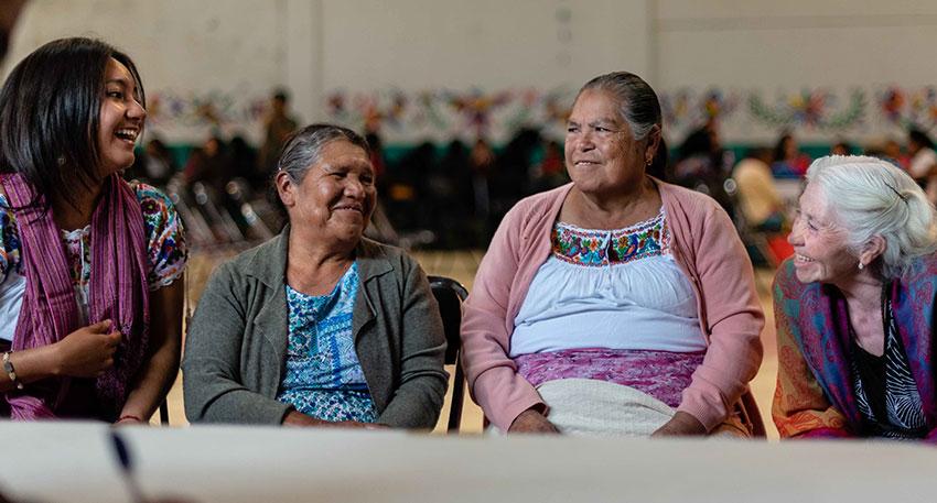 A regional forum of indigenous women in Hidalgo.