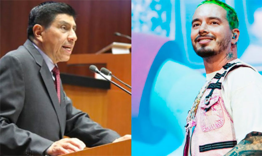 Senator Jara, left, wants controls over song lyrics such as those sung by Maluma.